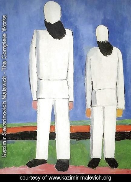 Kazimir Severinovich Malevich - Two Male Figures